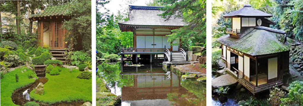 Teahouses and pavilions in Japanese gardens, source: pinterest.com, wabisabilife.cz