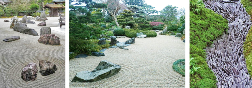 Sand, gravel, and stone in Japanese gardens, source: pinterest.com, wabisabilife.cz