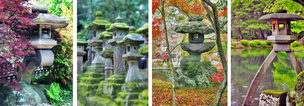 Stone lanterns, source: pinterest.com, wabisabilife.cz