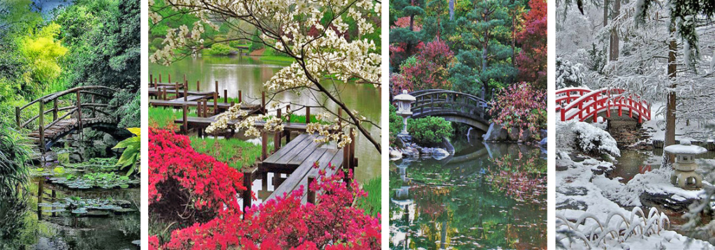 Bridges in the Japanese gardens, source: pinterest.com, wabisabilife.cz