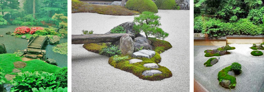 Islands in Japanese gardens, source: pinterest.com, wabisabilife.cz